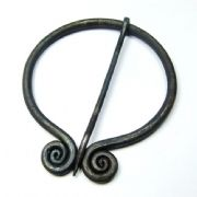 Darkened Steel Fibula with Spiraled Ends